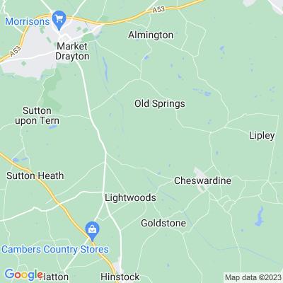 Cheswardine Park Location