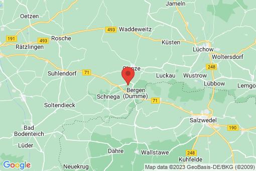 Karte Bergen (Dumme) Brüchauer Mühle