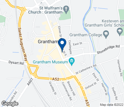 Map of 32 High Street in Grantham