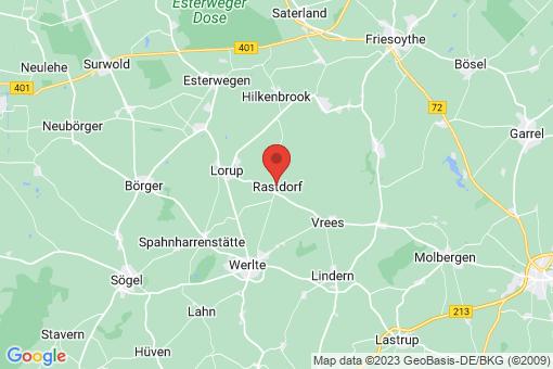 Karte Rastdorf