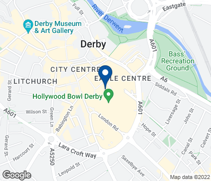 Map of 1 Devonshire Walk in Derby