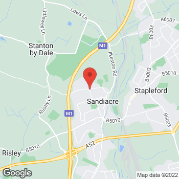 Map of Select Convenience Sandiacre Stanton Road at 49 Stanton Road, Nottingham, Nottinghamshire NG10 5DE