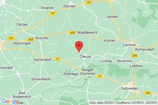 Karte Clenze Lefitz