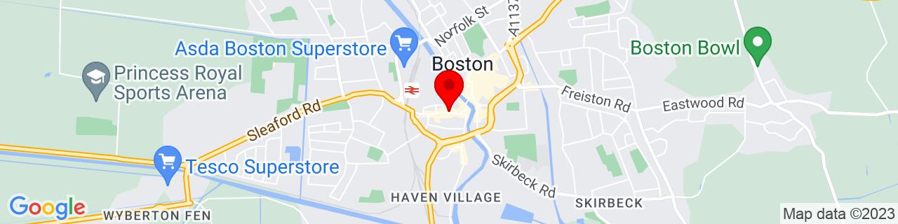 Google Map of 52.97633, -0.02664