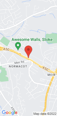 Map showing the location of the Stoke-on-Trent A50 Roadside monitoring site