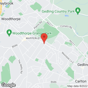 Map of Bargain Booze Plus Westdale Lane West at 339 Westdale Lane West, Mapperley, Nottinghamshire NG3 6EW