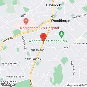 Map of wilko Sherwood at 646 Mansfield Road, Nottingham,  NG5 2GA