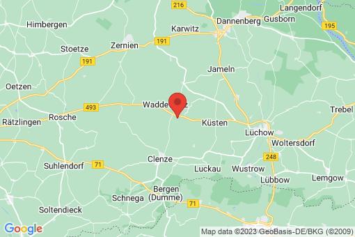 Karte Waddeweitz Klein Gaddau