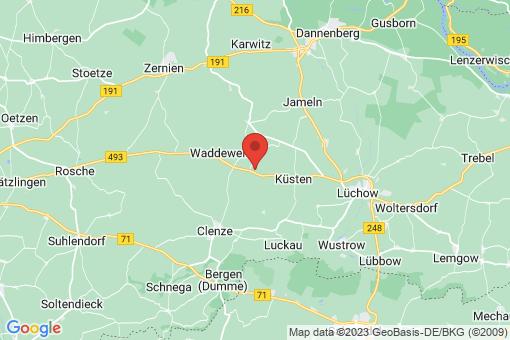 Karte Waddeweitz Salderatzen