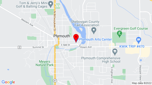 Google Map of 520 E. Mill Street, Plymouth, WI 53073
