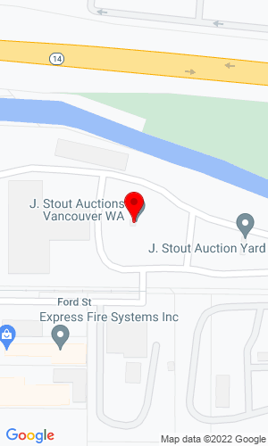 Google Map of J. Stout Auctions 520 S. 28th Street, Washougal, WA, 98671