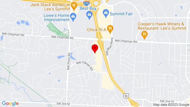 Google Map of 520 NW Murray Rd, Lees Summit, MO 64081