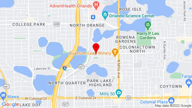 Google Map of 520 Virginia Dr, Orlando, FL 32803