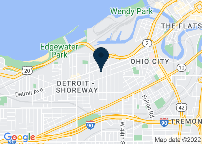 Map of 5209 Detroit Ave., Cleveland, OH, Cleveland, OH 44102, United States