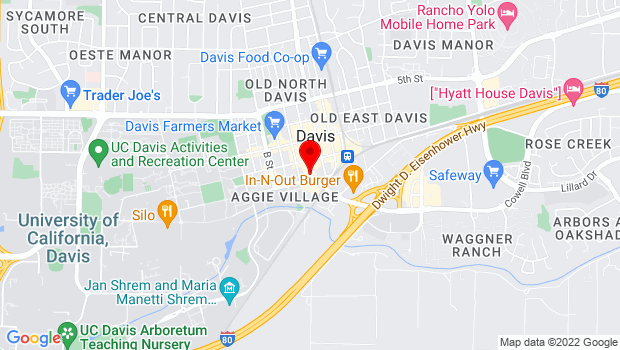 Google Map of 521 1st Street, Davis, CA 95616