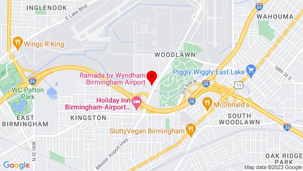 Google Map of 5216 Messer Airport Hwy, Birmingham, AL 35212