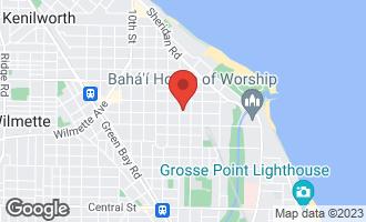 Map of 522 Greenleaf Avenue WILMETTE, IL 60091