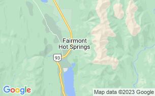 Map of Fairmont Hot Springs RV Resort