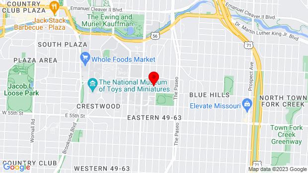 Google Map of 5228 Tracy Ave, Kansas City, MO 64110
