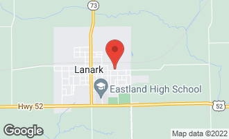 Map of 523 East Locust Street Lanark, IL 61046