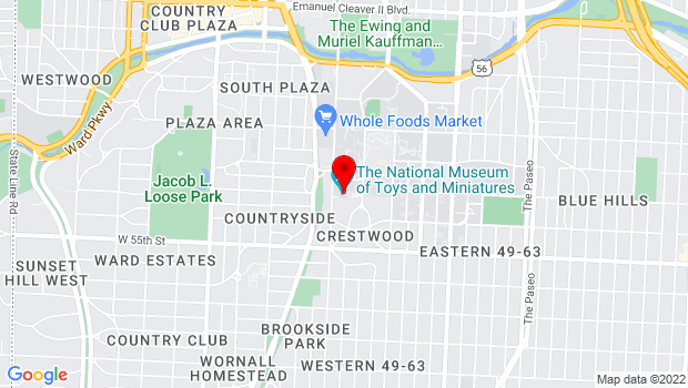 Google Map of 5235 Oak Street, Kansas City, MO 64112