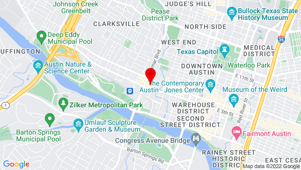 Google Map of 525 N Lamar Blvd, Austin, TX 78703