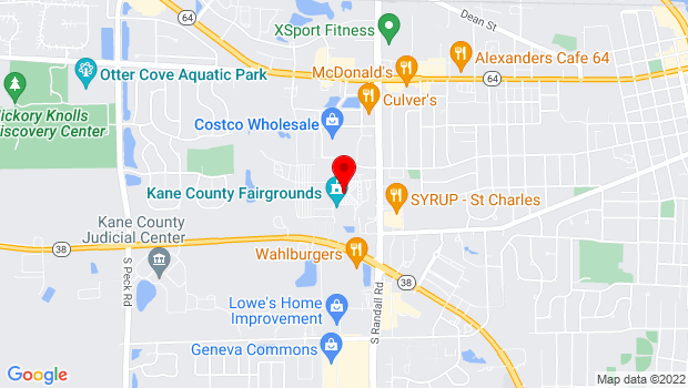Google Map of 525 S. Randall Rd., Saint Charles, IL 60174