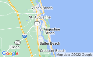 Map of St. Augustine Beach KOA