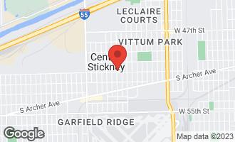 Map of 5258 West 51st Street STICKNEY, IL 60638