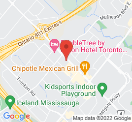 Google Map of 5280+Dixie+Road%2CMississauga%2COntario+L4W+2A7