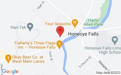 Map of 53 W Main St, Honeoye Falls, NY 14472, USA