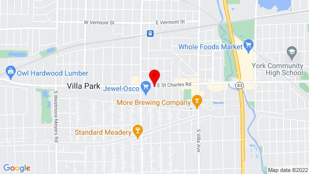 Google Map of 53 E Saint Charles Rd, Villa Park, IL 60181