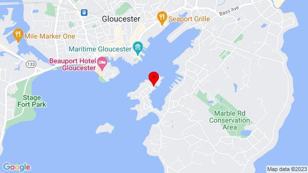 Google Map of 53 Rocky Neck Ave., Gloucester, MA 01930
