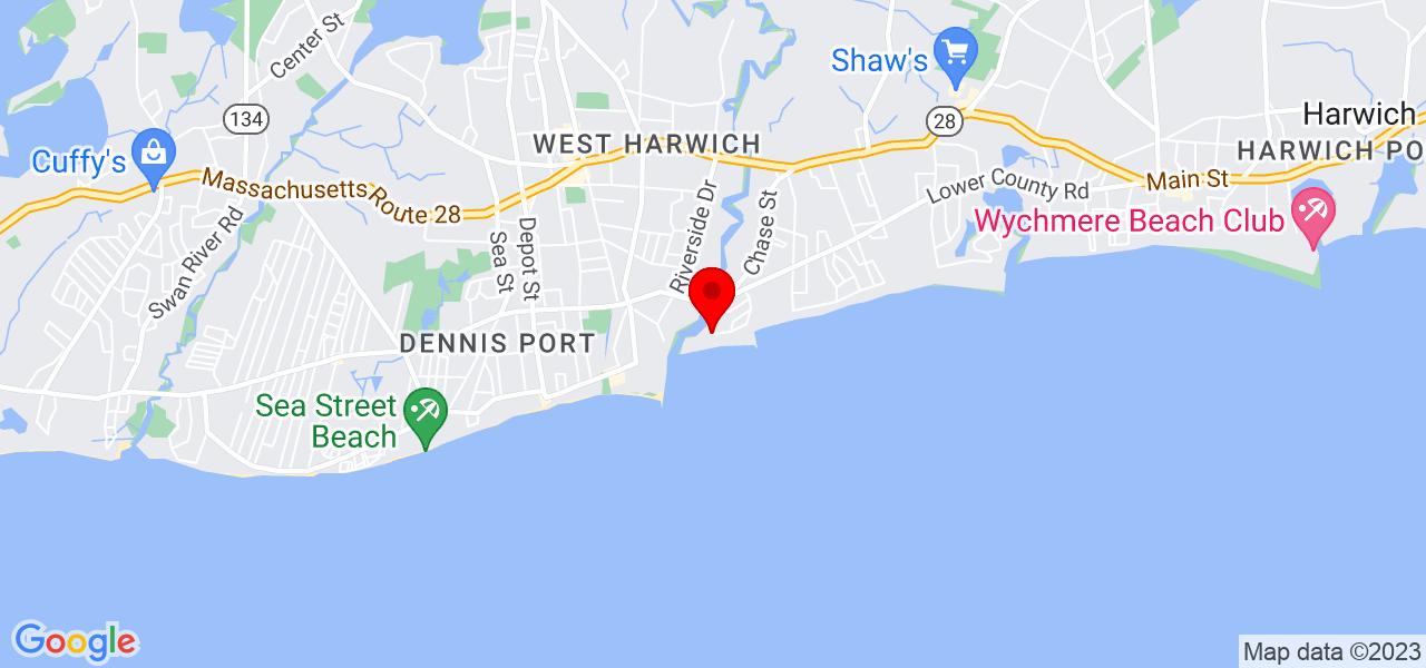 Google Map of53 Strandway West Harwich MA 02645