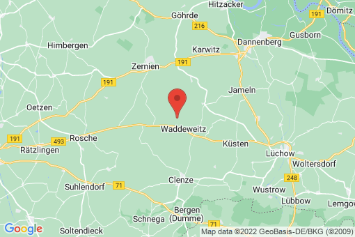 Karte Waddeweitz Wittfeitzen, Klein Wittfeitzen