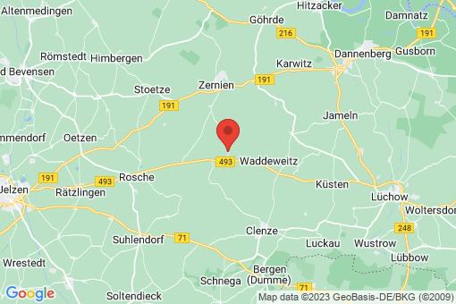 Karte Waddeweitz Hohenvolkfien