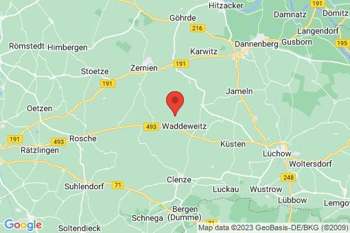 Karte Waddeweitz Wittfeitzen
