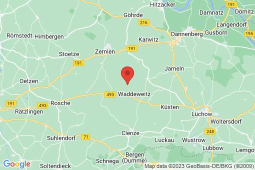 Karte Waddeweitz Wittfeitzen, Groß Wittfeitzen