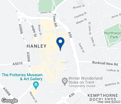 Map of 3-5 Upper Market Square in Hanley