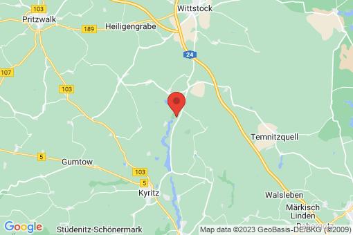 Karte Bork-Lellichow