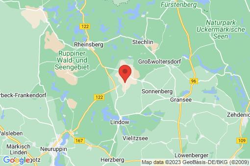 Karte Lindow (Mark) Hindenberg