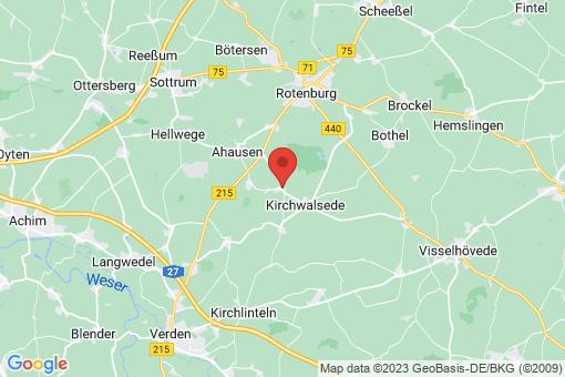 Karte Westerwalsede