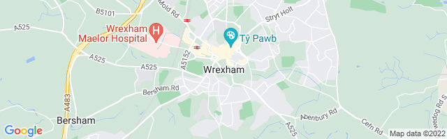 Map Of Wrexham