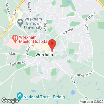 Map of Burger King at Wrexham Unit B3 Eagles Meadow, Wrexham,  LL13 8DG