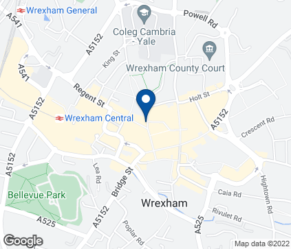 Map of 49 Hope Street in Wrexham