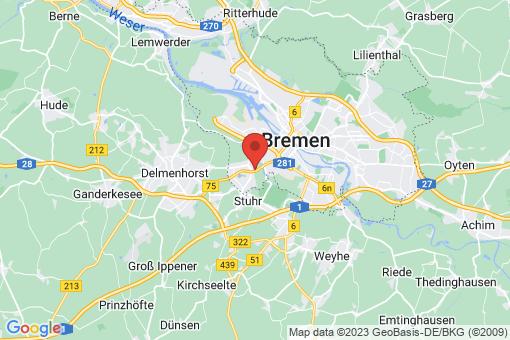 Karte Bremen-Huchting