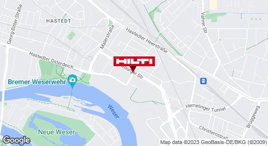 Wegbeschreibung zu Hilti Store Bremen