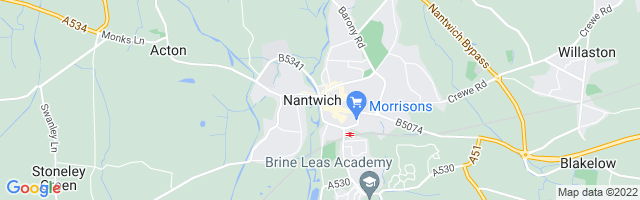 Map Of Nantwich