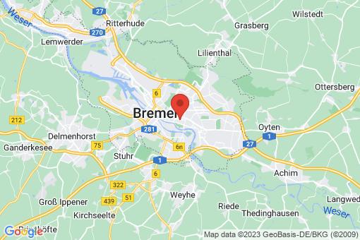 Karte Bremen-Östliche Vorstadt