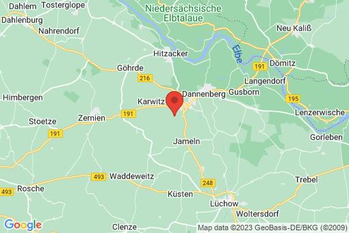Karte Dannenberg (Elbe) Riekau
